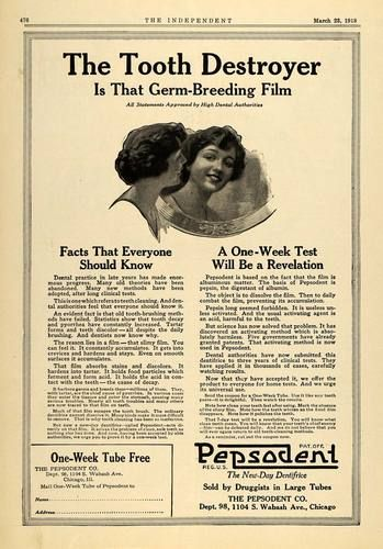 1918 Ad Tooth Destroyer Pepsodent Dentifrice Toothpaste Original Advertising | eBay