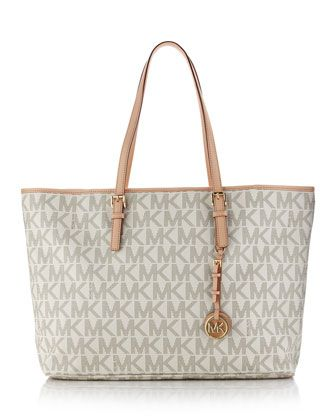 19f677d5df9 MICHAEL Michael Kors Jet Set Logo Macbook Travel Tote.