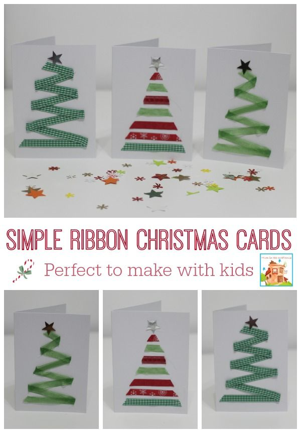 Christmas Card Crafts Ideas Part - 41: 15 DIY Christmas Cards Kids Can Make; A Collection Of 15 Amazing Yet Simple Christmas  Card Craft Ideas For Kids From Toddler To Teen!