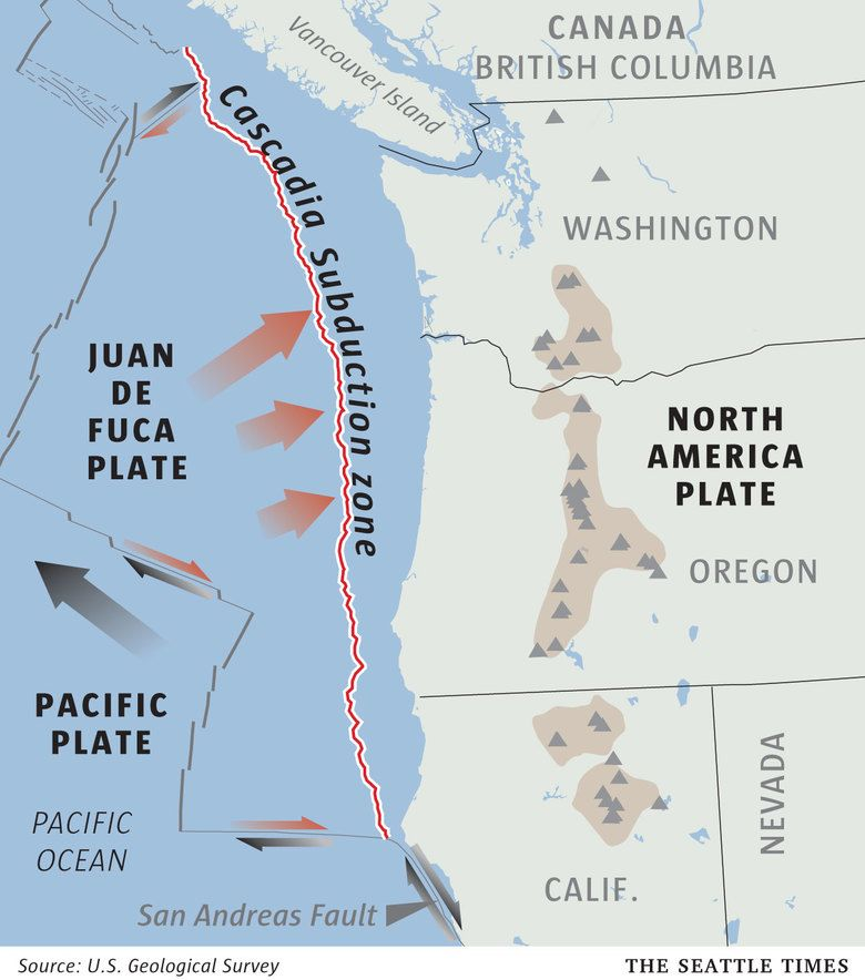 Image result for cascadia fault | Disaster preparedness | Map ... on