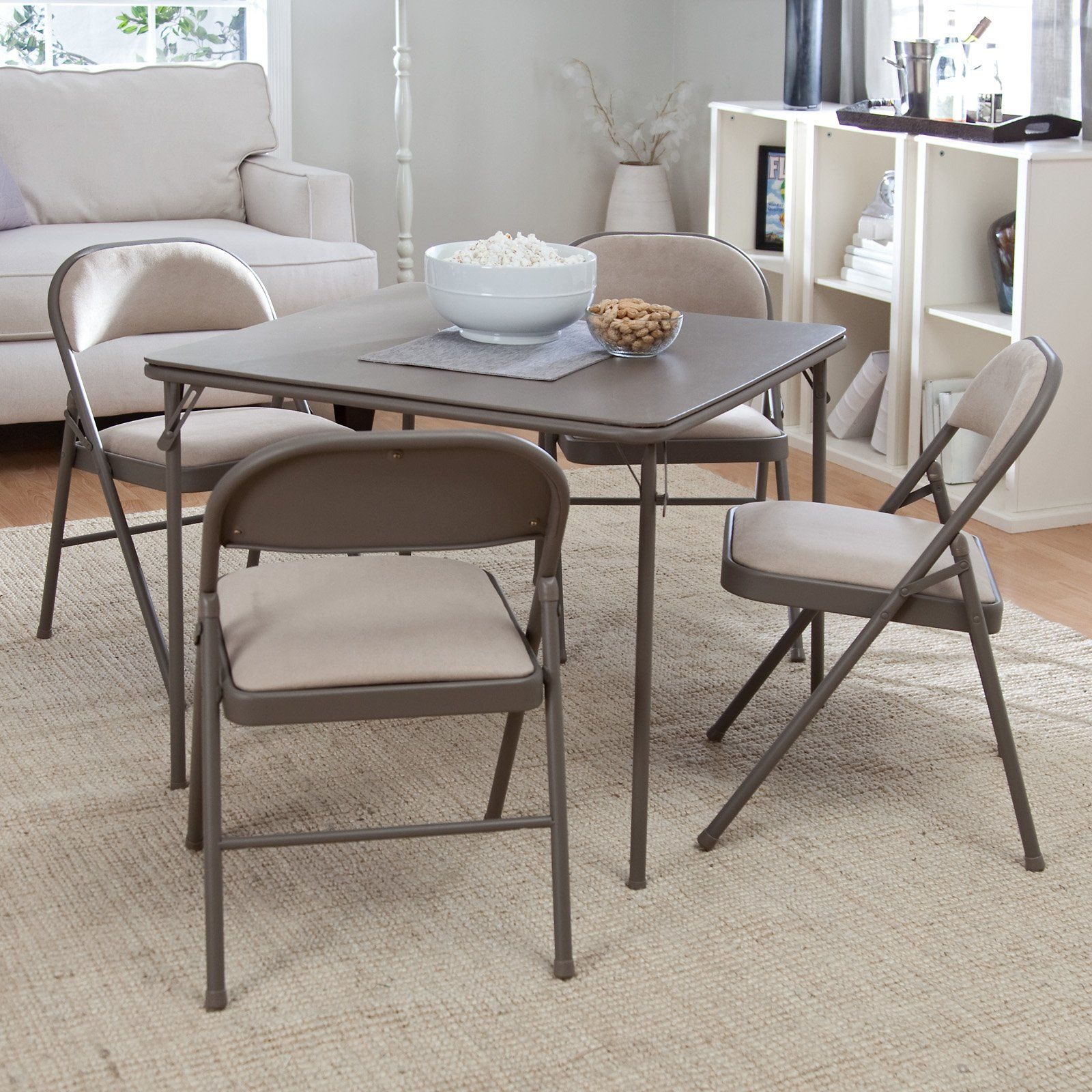 Folding dining table and chair set  Have to have it Meco Sudden Comfort  Piece Card Table Set