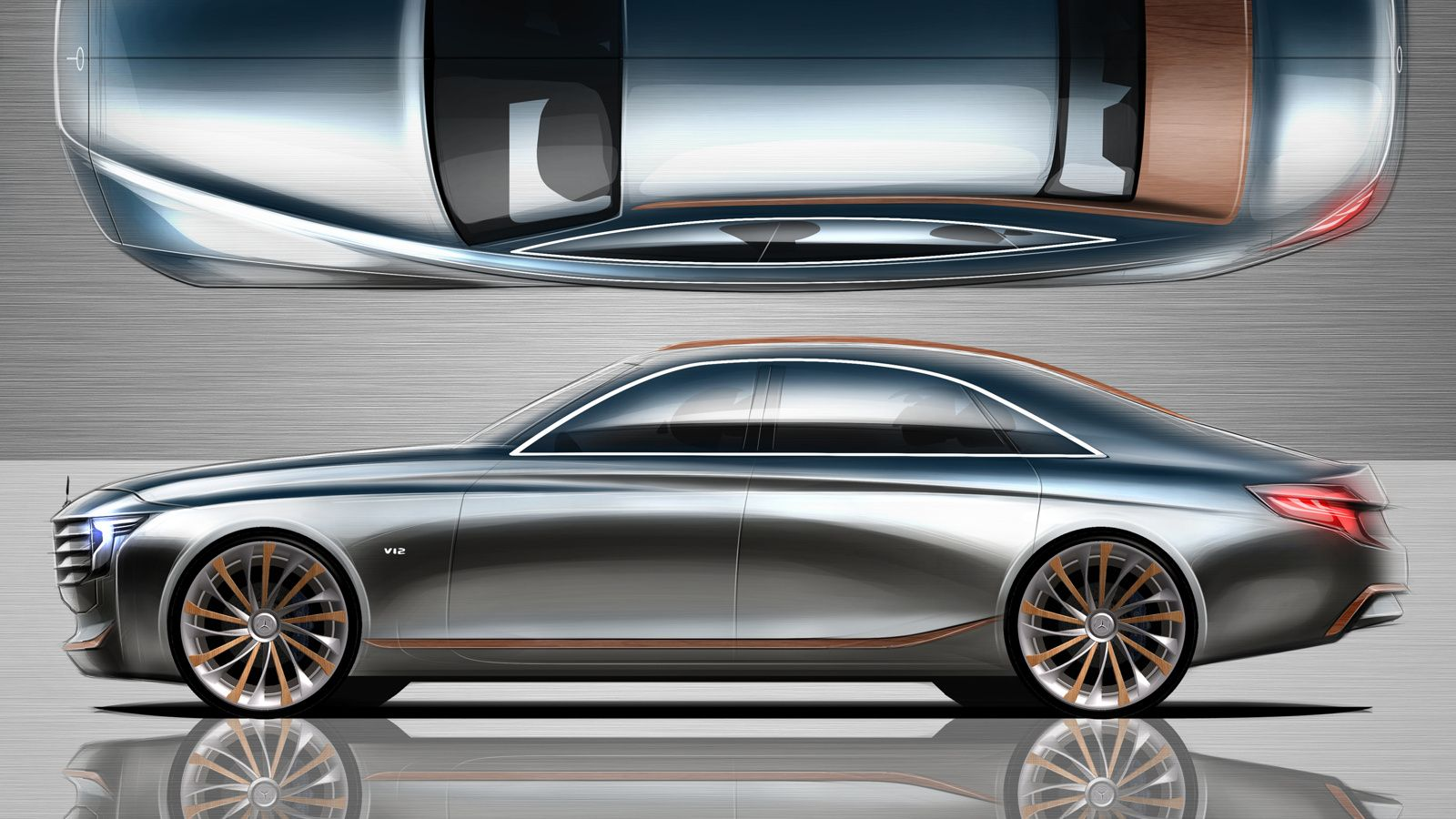 2021 Mercedes Benz U Class Concept For An Uber Saloon Placed Above The S Class Carscoops Mercedes Benz Benz Mercedes