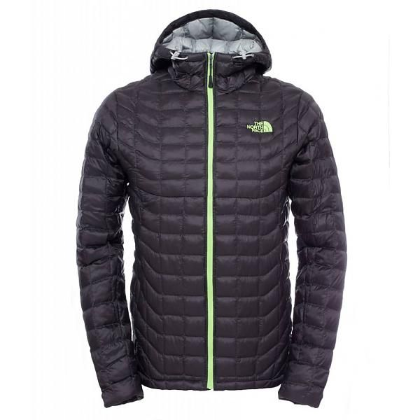 The North Face Men's Thermoball Hooded Jacket Asphalt Grey/Power Green