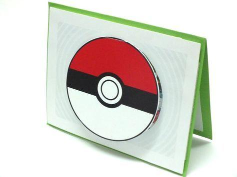 Pokemon Card Pokemon Birthday Card Personalized Pokeball Card