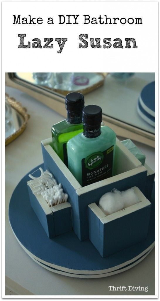Beat The Stink With This Bathroom DIY Lazy Susan