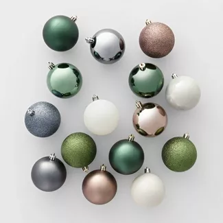 Shop For Christmas Tree Ornament Sets Online At Target Free Shipping On In 2020 Christmas Ornament Sets Christmas Tree Colour Scheme Green Christmas Tree Decorations
