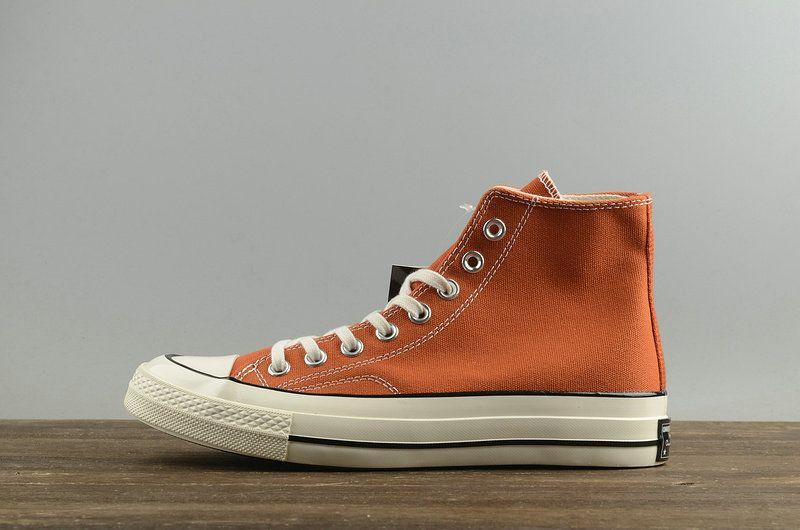 ce0735db5f7f Genuine Unisex Converse Chuck Taylor All Star 1970s High Cadmium Orange  White 157569