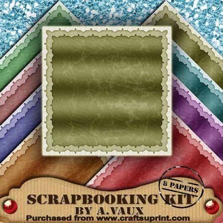 Lace Edge 2 Vintage Crackle Scrapbooking Paper Kit on Craftsuprint - Add To Basket!
