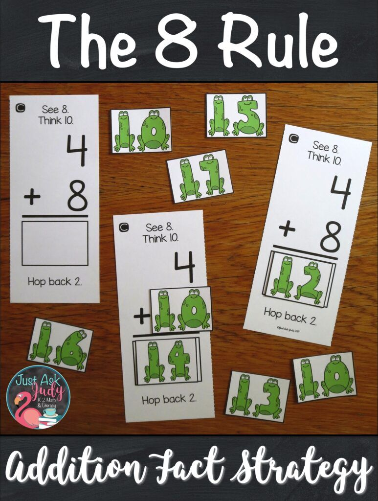 Are You Ready To Start Teaching Your Students How To Add 8 To A Single Digit Number Here S A Set Of Addition Fact Strategies Addition Facts Subtraction Facts How to teach addition easily