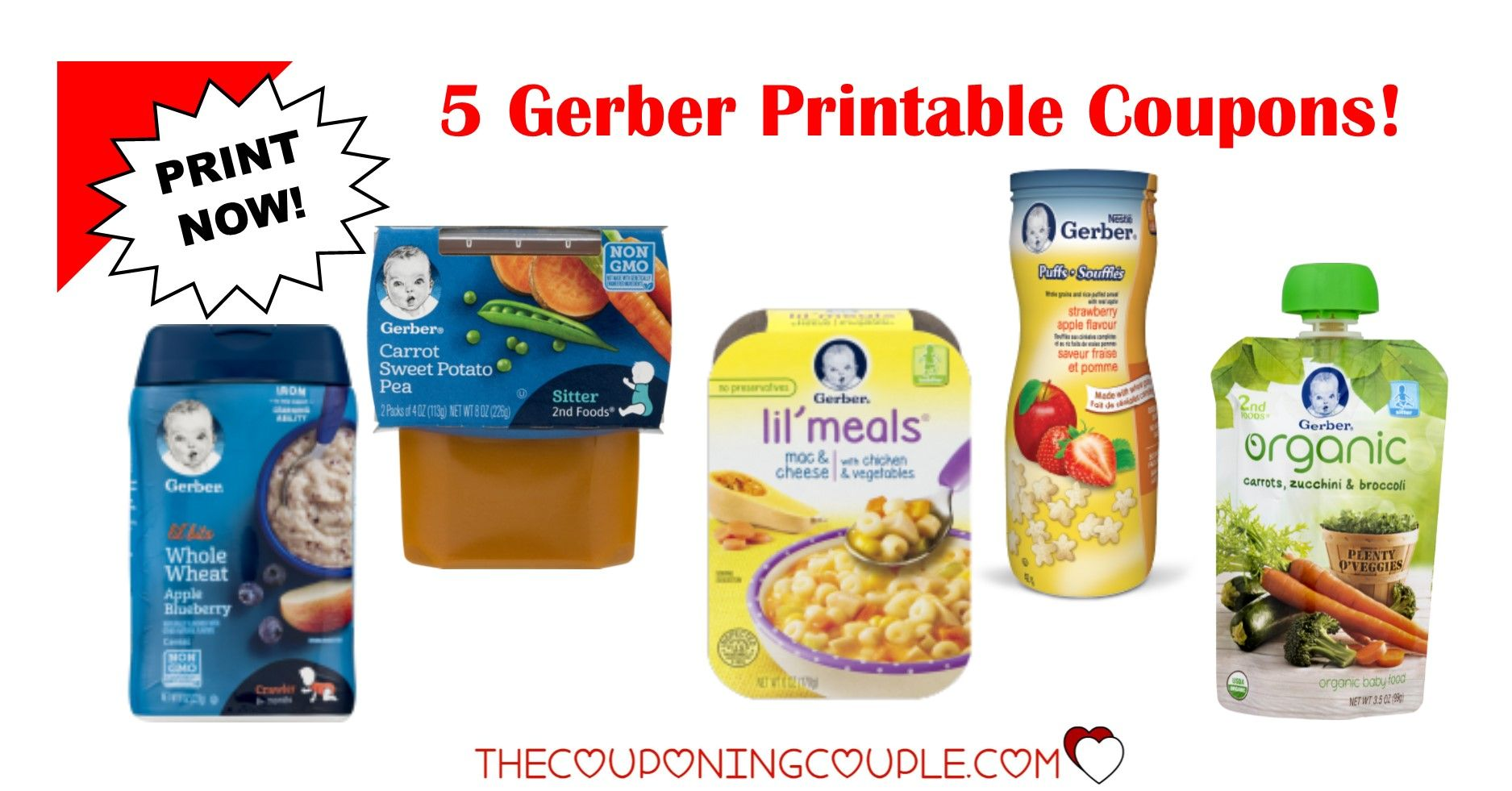 image regarding Gerber Printable Coupons identify 3 Gerber Printable Discount codes ~ Youngster Foods Treats! Retail outlet Advertisements