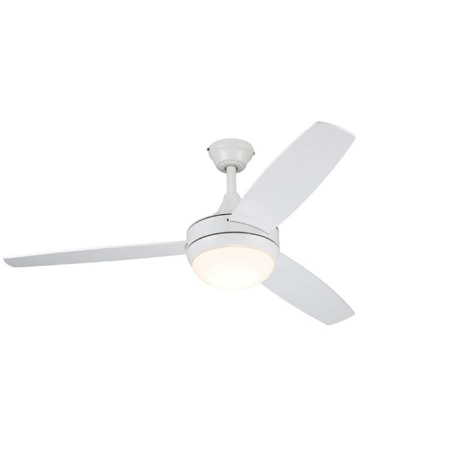 Harbor Breeze Beach Creek 44 In White Led Indoor Ceiling Fan With Light Kit And Remote 3 Blade Lowes Com Ceiling Fan With Light Ceiling Fan Fan Light