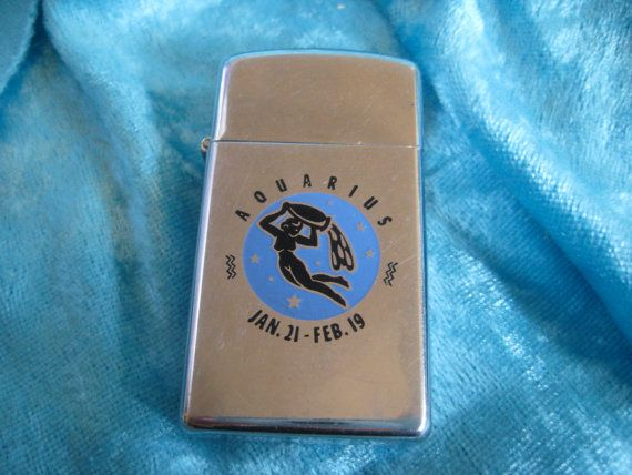 Vintage Astrology 1978 Aquarius Zippo Fire By