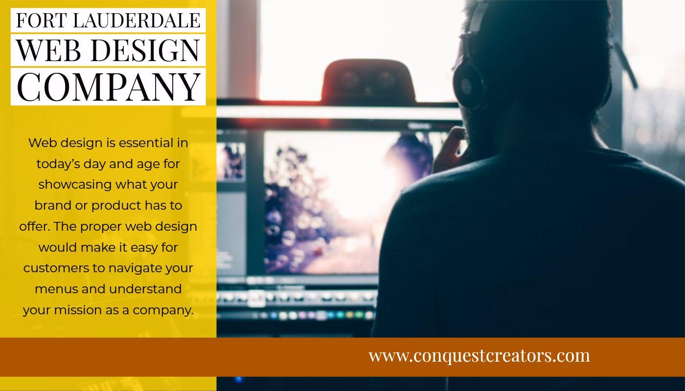 Website Design Development In Fort Lauderdale Conquest Creators Web Design Company