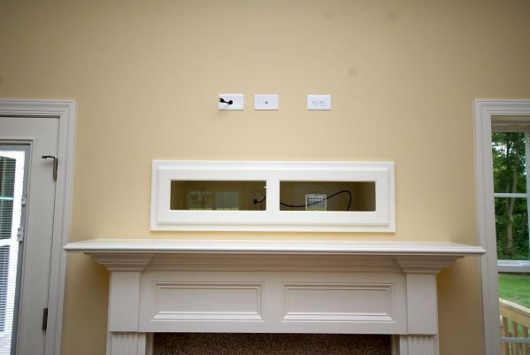 Where To Put Cable Box With Tv Over Fireplace For Stereo Dvd Player System And Flat Panel