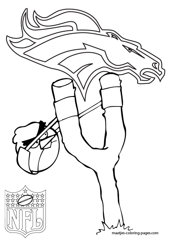 Denver Broncos Angry Birds Coloring Pages Coloring Pages Bird Coloring Pages Football Coloring Pages