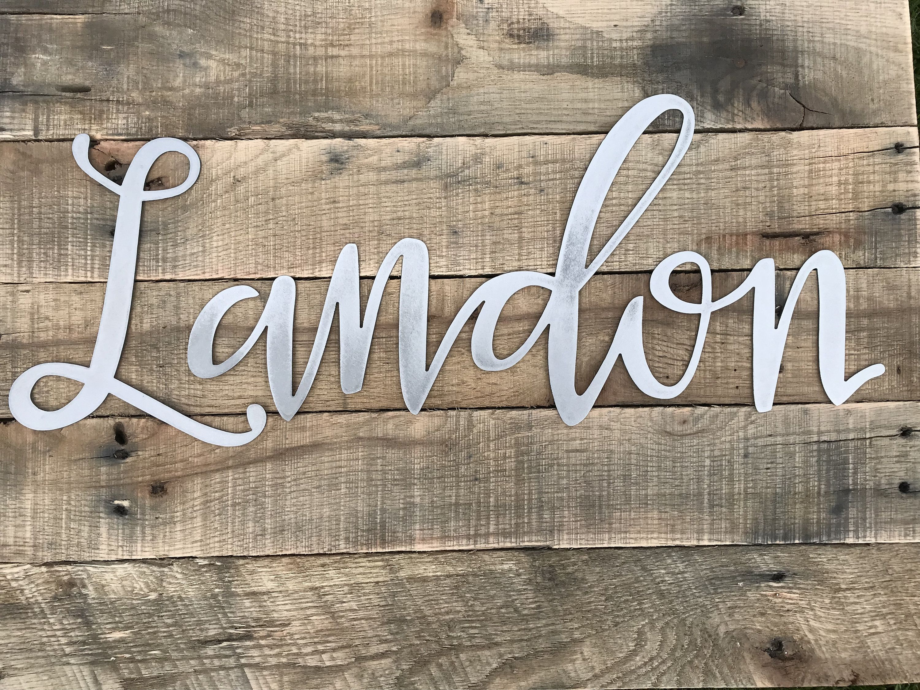 Metal Name sign, Personalized name sign, Farmhouse style