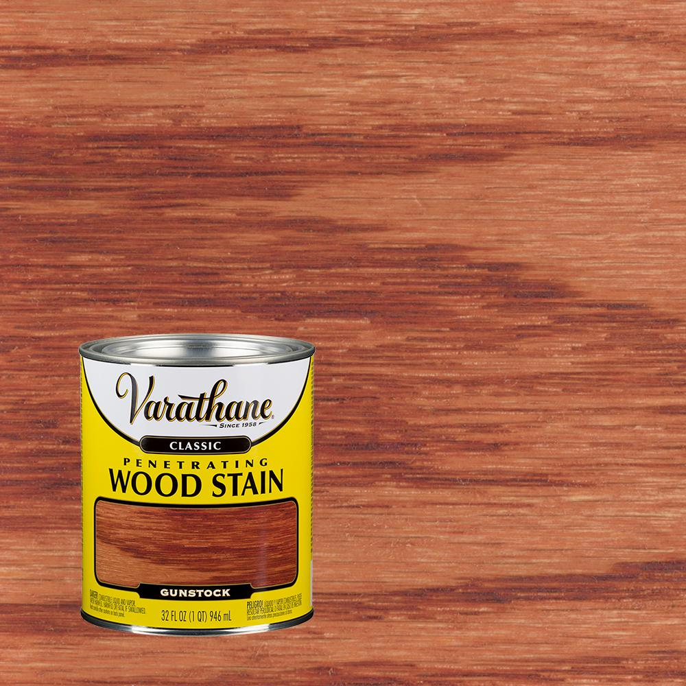 Varathane 1 Qt Gunstock Classic Wood Interior Stain 339711