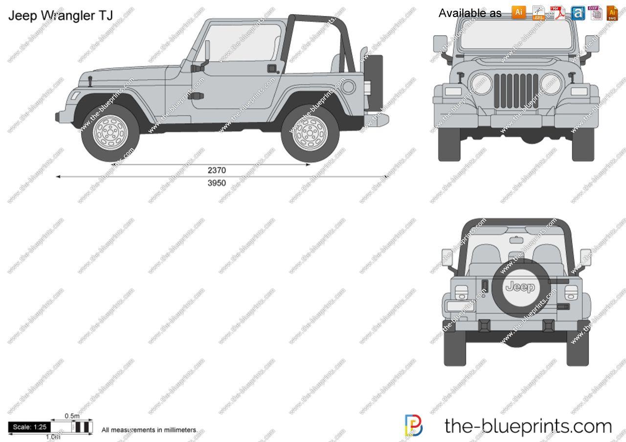 Dimensions Jeep Wrangler Tj Jeep Jeep Wrangler Jeep Cj7