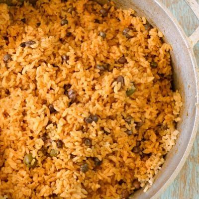 Puerto Rican Rice Recipe Arroz Con Gandules Rice With Pigeon Peas The Best Rice Arroz Con Gandules Yellow Rice Recipes Rice And Beans Recipe Puerto Rican