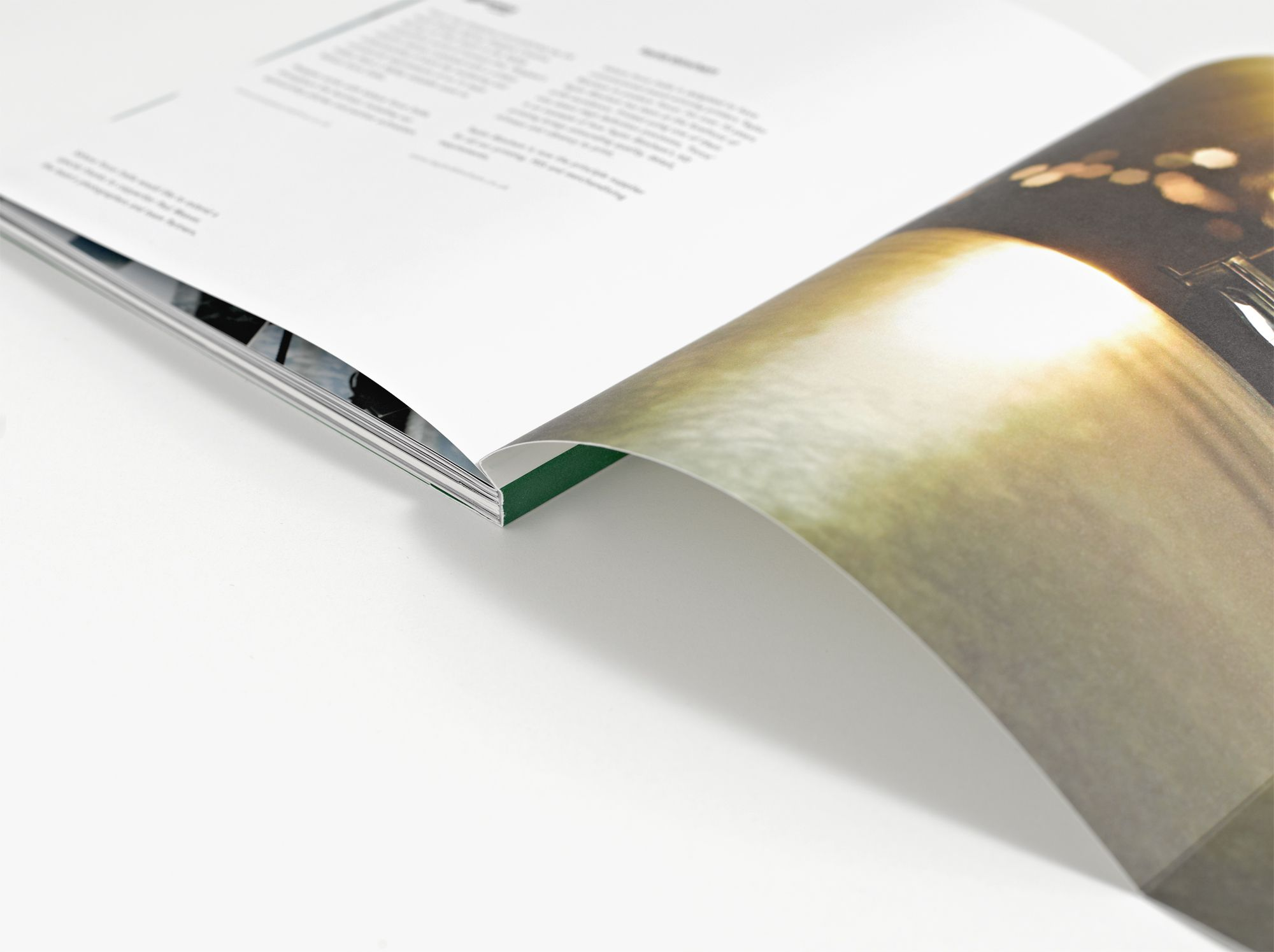Gate-folded ccover detail. From 'FORCE', a book for Sahara Force India Formula One team, designed and published by Pangaea Creative.