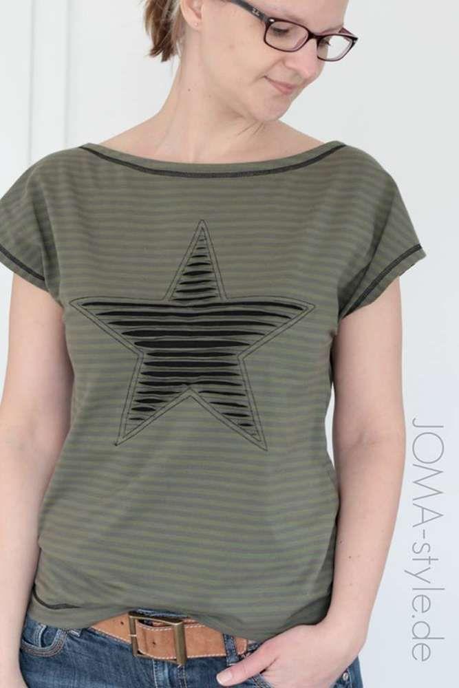Schnittmuster / Ebook lillesol women No.4 Sommershirt / Nähen Shirt / Damen / Sewing pattern Shirt / Jersey #nosewshirts