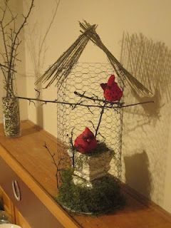 I Made This Beautiful Birdcage From Chicken Wire A