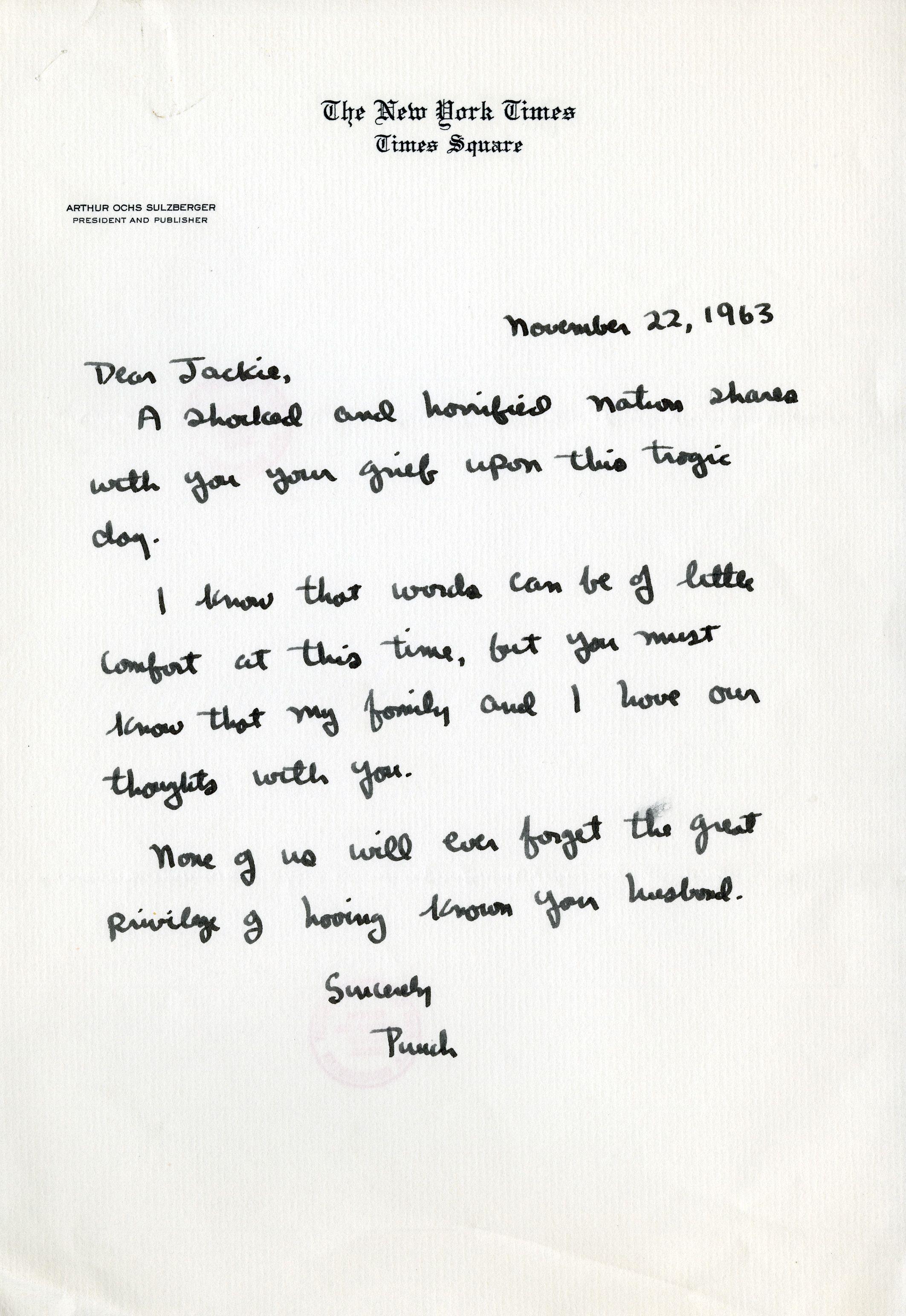 Letters To Jackie Dear Jackie Jfk John F Kennedy