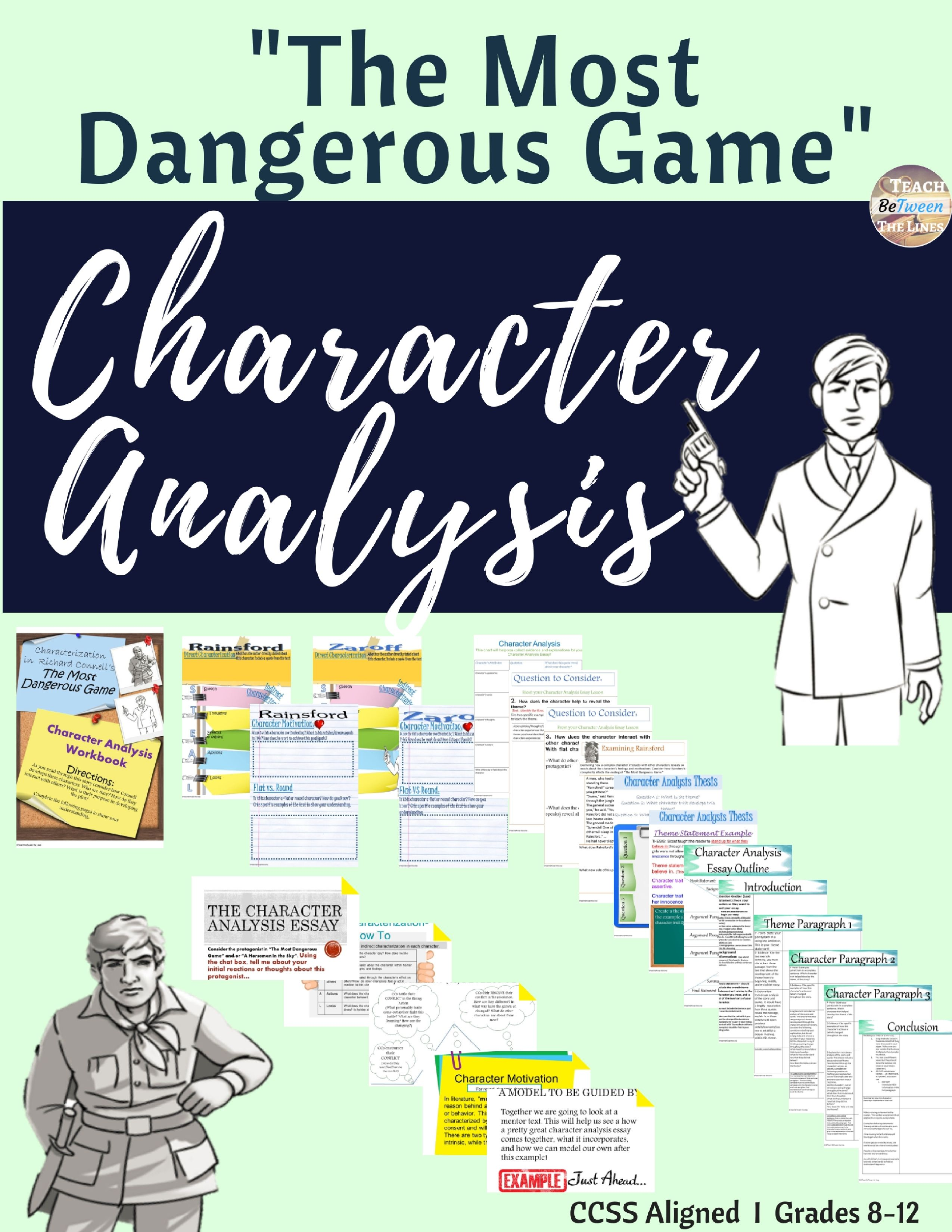 The Most Dangerous Game Characterysis Unit Digital