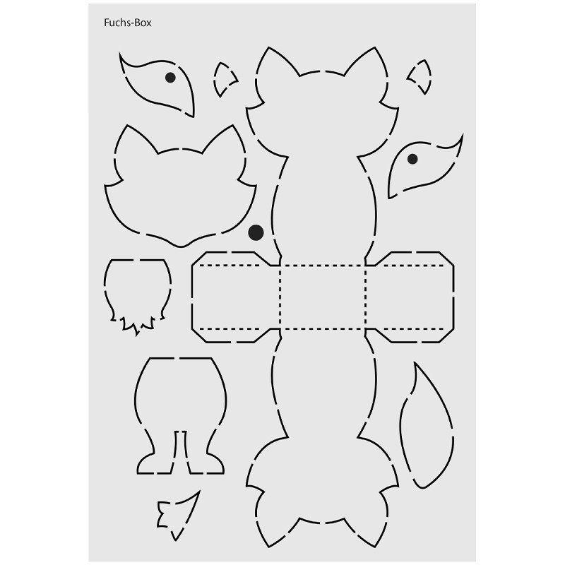 Design-Schablone Nr. 2 Fuchs-Box, DIN A4
