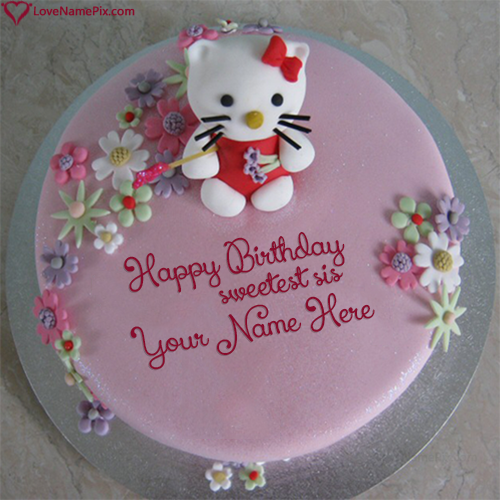 Cute Hello Kitty Sister Birthday Cake Name Generator Birthday