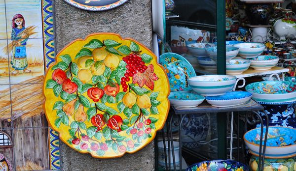 Best the beauties of italy vietri pottery images positano