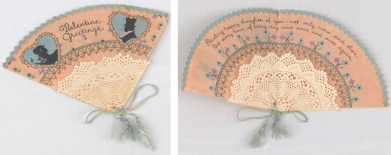 Valentinskarten in Form eines Fächer