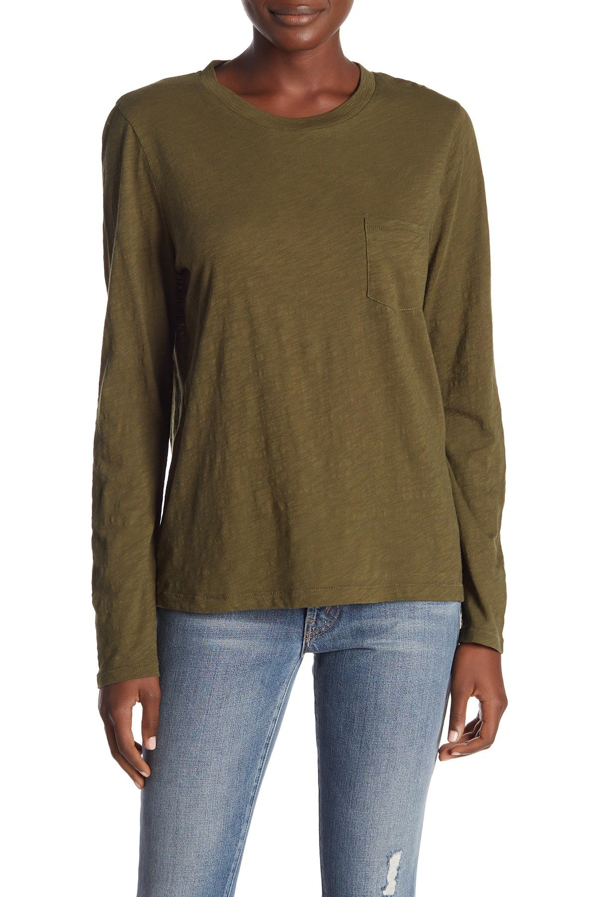 35a3424c6 Madewell | Long Sleeve Crew Neck Tee in 2019 | Nordstrom Rack ...
