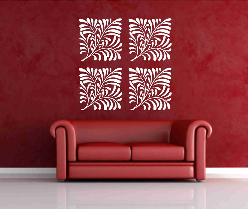 Fern Leaves Decal Vinyl Stickers Wall Decals Plant Wall