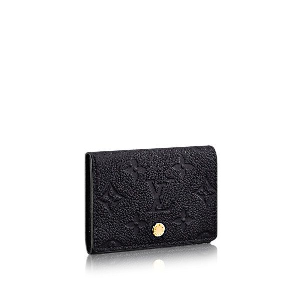 Business Card Holder Monogram Empreinte Leather Small Leather