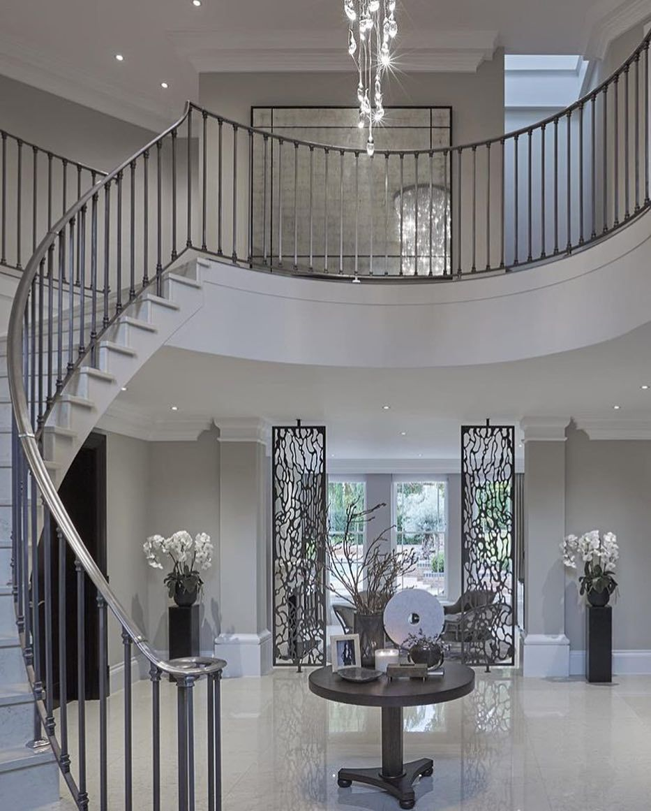 95 Home Entry Hall Ideas For A First Impressive Impression: Beautiful Staircase In Entrance Hall