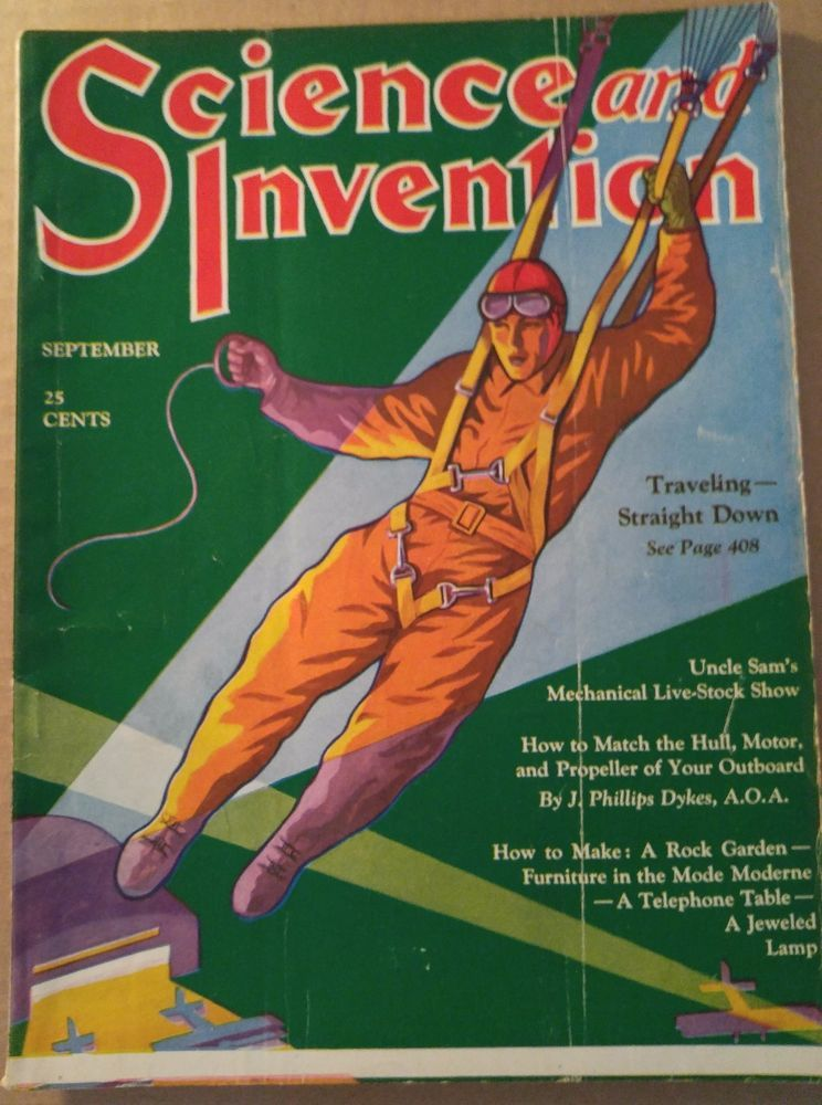 sept 1930 science and invention magazine dunninger magic sam loyd