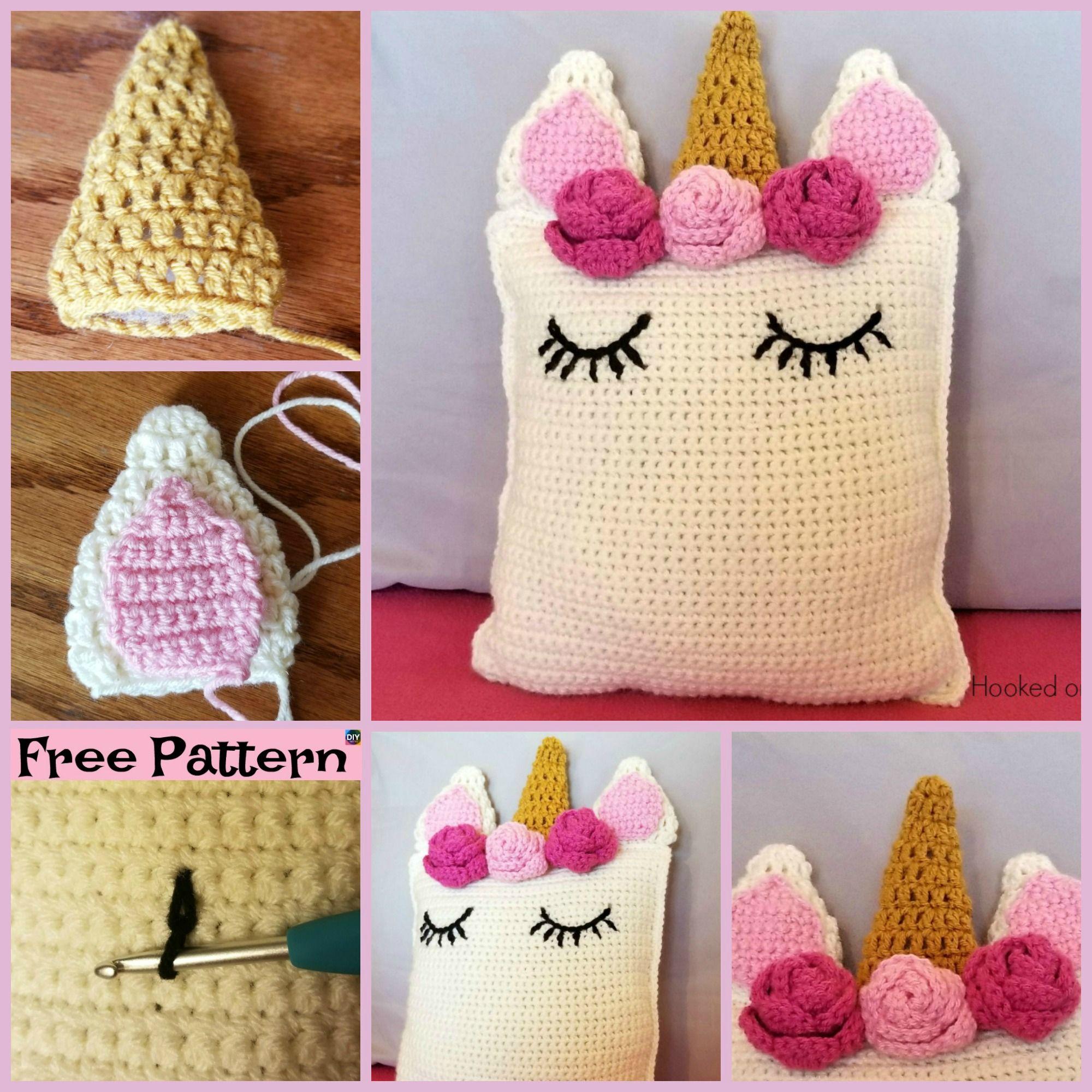 Cute crochet unicorn pillow free patterns crochet ideas