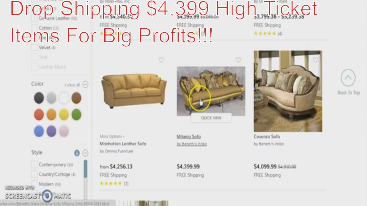 Drop Shipping High Ticket Items At $4,399 For, Shopify, eBay, Amazon