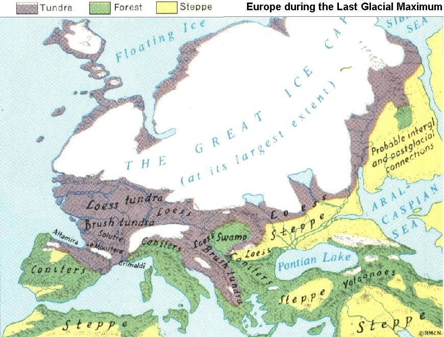 Europe During The Last Glacial Maximum World View Pinterest