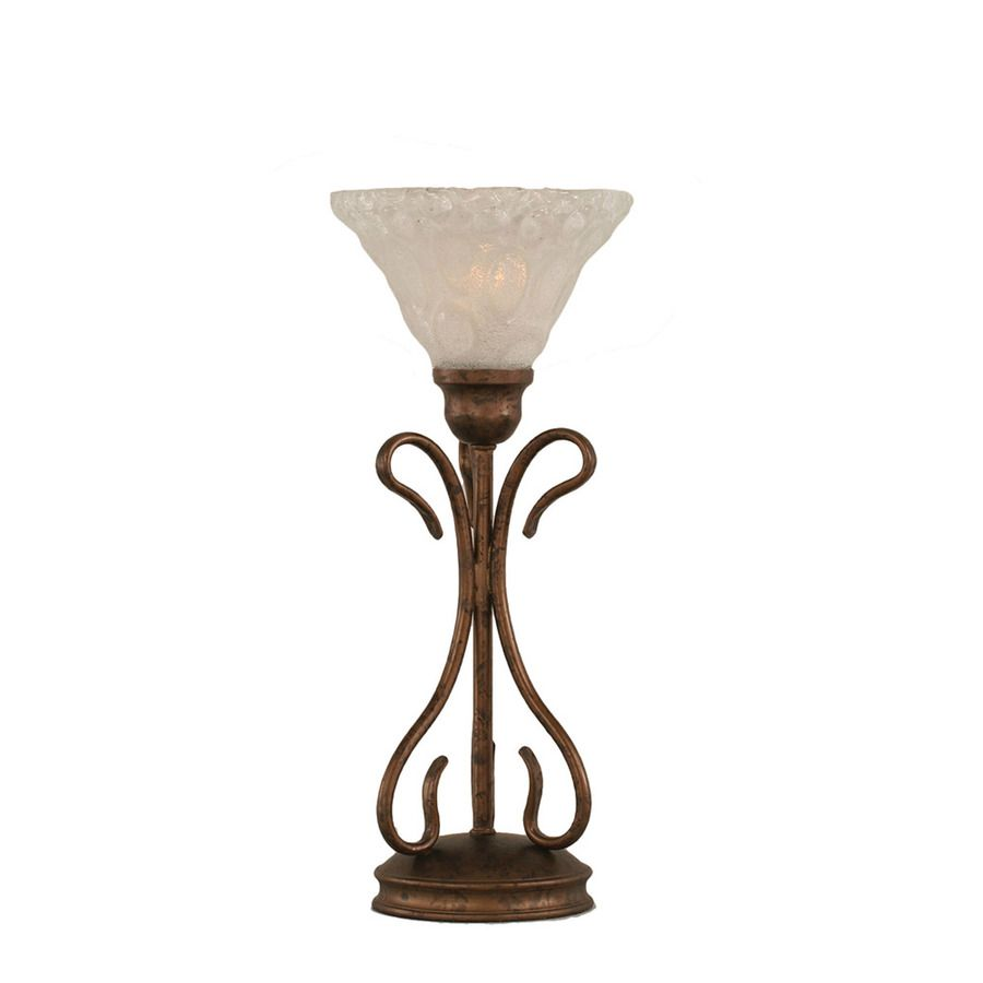 16 75 In Bronze Electrical Outlet 3 Way Switch Table Lamp With Glass Shade At Lowes Com Glass Shades Lamp Table Lamp