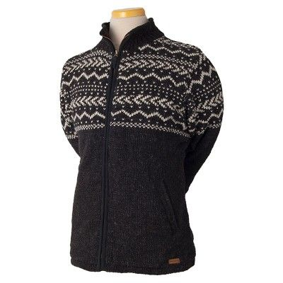 The men's Yukon Sweater from Laundromat is a high quality, full zip sweater that you can wear in a very wide variety of situations. The sweater has a Scandinavian, Nordic inspired design with classic designs on top of solid, muted colors. It's a fantastic sweater to throw on with your favorite pair of jeans and work boots on a chilly autumn day.