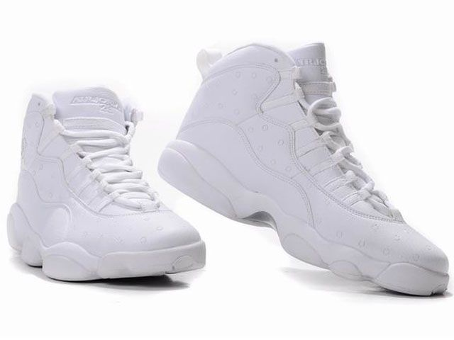 purchase cheap 249c4 92abe Discount New Air Jordan 13 Retro Men Shoes In All White Cool ...