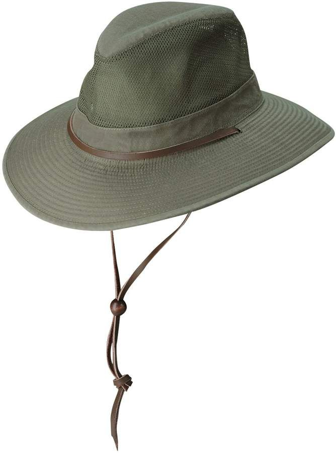 69160f23ae286 Dorfman Pacific Brushed Twill Safari Hat in 2019