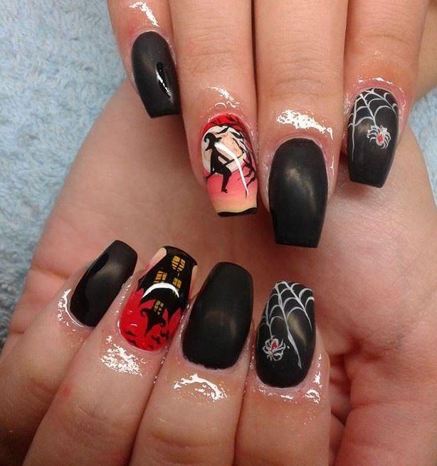 Elegant Halloween Acrylic Nail Art Designs Nail Art Pinterest