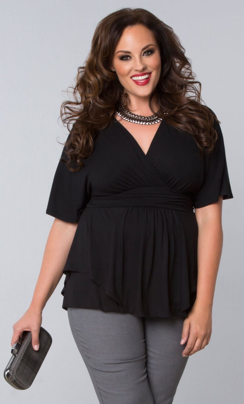 4eaba8b8d7f5e Looking for stylish plus size clothing for work  Our season-less Promenade  Top is a must have for any work wardrobe. Kiyonna offers trendy separates  and ...