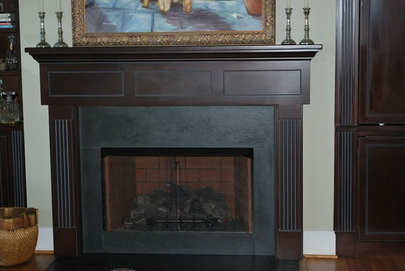 Slate Surround Fireplace Mantel Kamin Umgibt, Schiefer Kamin Einfassung,  Kleiner Kamin, Entertainment