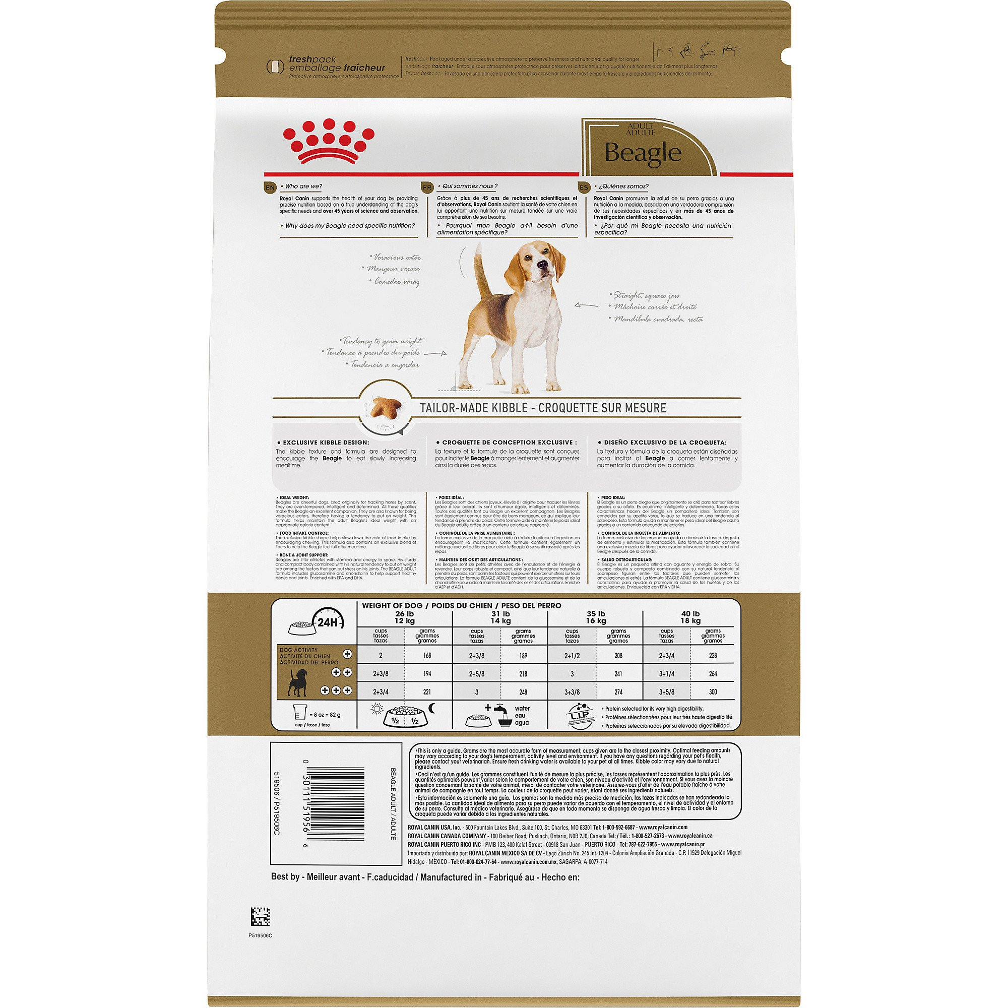 Royal Canin Breed Health Nutrition Beagle Adult Dry Dog Food 30