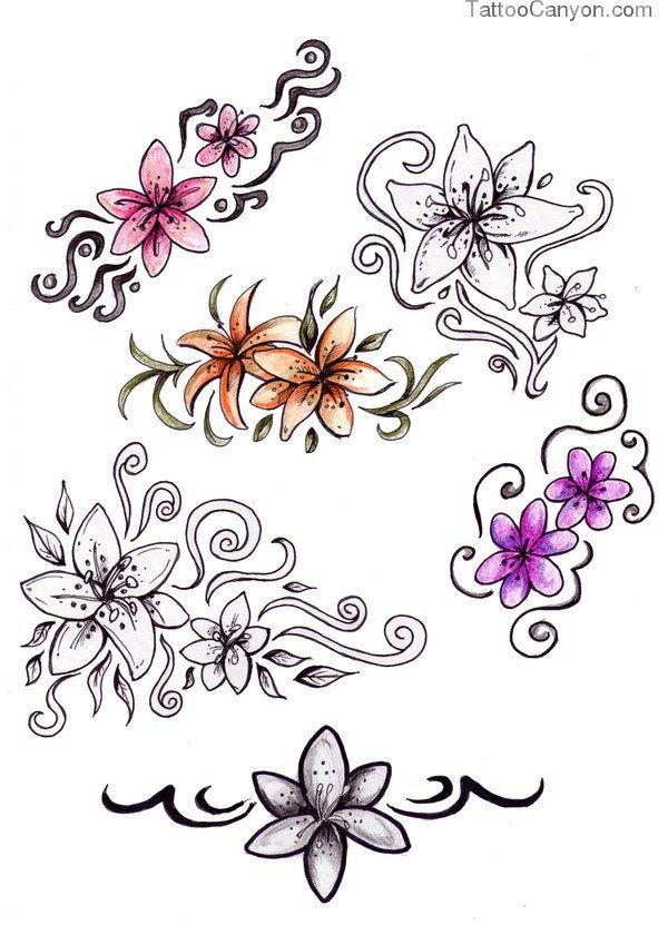 Flower Tattoo Designs By Niuniente On Deviantart Picture 12173 Disenos De Tatuaje De Flores Tatuaje Remolino Tatuajes De Henna