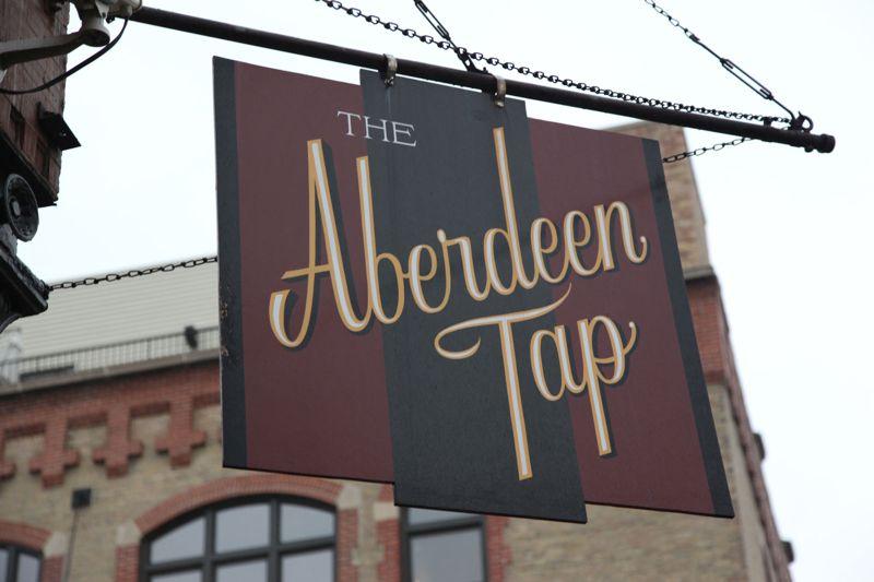 Aberdeen tap, fantastically interesting food menu, and tasty beer